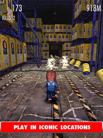 Screenshots of the Chucky: Slash & Dash game for iPhone, iPad or iPod.