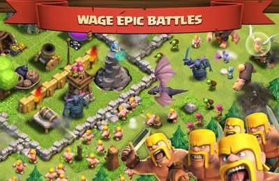Screenshots of the Clash of Clans game for iPhone, iPad or iPod.