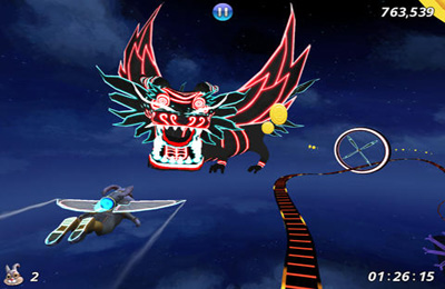 Screenshots of the Cloud Spin game for iPhone, iPad or iPod.