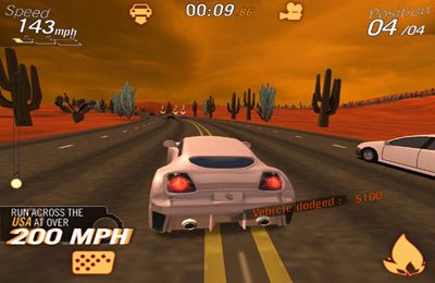 Screenshots of the Crazy Cars - Hit The Road game for iPhone, iPad or iPod.