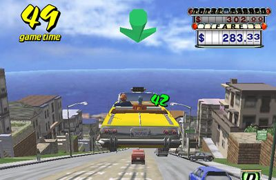 Screenshots of the Crazy Taxi game for iPhone, iPad or iPod.