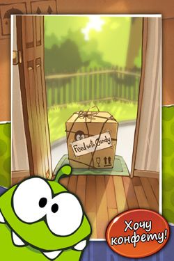 Screenshots of the Cut the Rope game for iPhone, iPad or iPod.