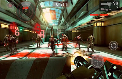 Screenshots of the Dead Trigger game for iPhone, iPad or iPod.