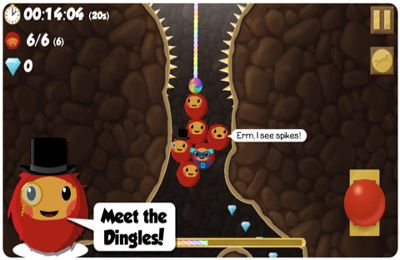 Screenshots of the Dingle Dangle game for iPhone, iPad or iPod.