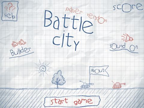 Screenshots of the Doodle battle city game for iPhone, iPad or iPod.