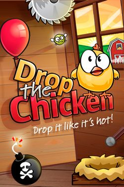 Screenshots of the Drop The Chicken game for iPhone, iPad or iPod.