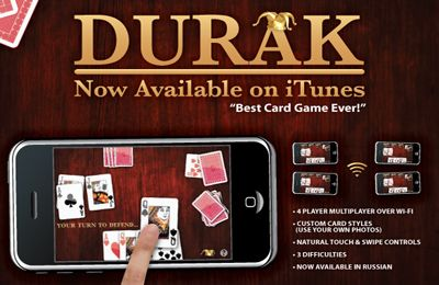 Screenshots of the Durak game for iPhone, iPad or iPod.