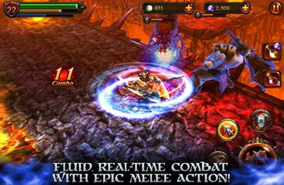 Screenshots of the Eternity Warriors 2 game for iPhone, iPad or iPod.