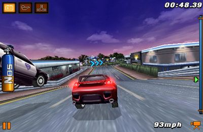 Screenshots of the Fast and Furious: Pink Slip game for iPhone, iPad