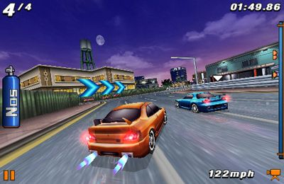Screenshots of the Fast and Furious: Pink Slip game for iPhone, iPad or iPod.