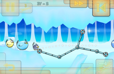 Screenshots of the Fat Birds Build a Bridge! game for iPhone, iPad or iPod.