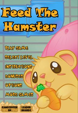 Screenshots of the Feed The Hamster game for iPhone, iPad or iPod.