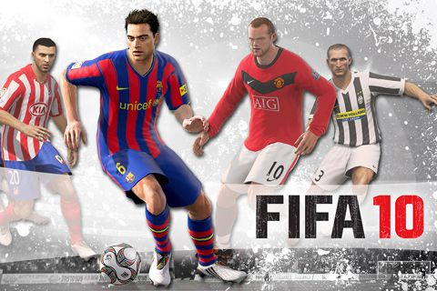 Screenshots of the FIFA 10 game for iPhone, iPad or iPod.