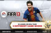 In addition to the game Real Football 2013 for iPhone, iPad or iPod, you can also download FIFA 13 by EA SPORTS for free