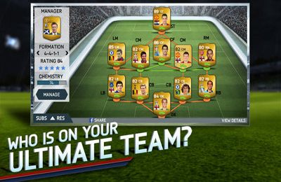 Screenshots of the FIFA 14 game for iPhone, iPad or iPod.