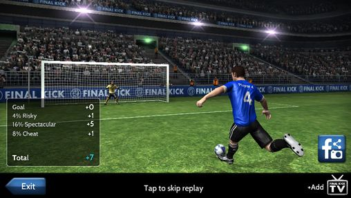 Screenshots of the Final Kick: The best penalty shots game game for iPhone, iPad or iPod.