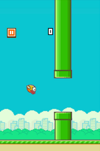 Screenshots of the Flappy bird game for iPhone, iPad or iPod.