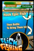 In addition to the game  for iPhone, iPad or iPod, you can also download Flick Fishing for free