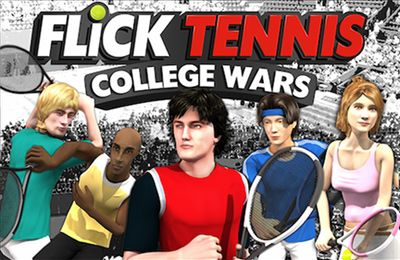 Screenshots of the Flick Tennis: College Wars game for iPhone, iPad or iPod.