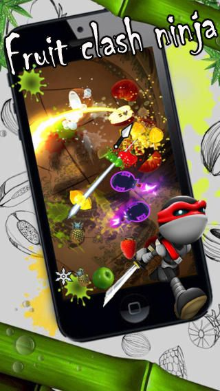 Download Fruit clash ninja iPhone free game.