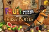 In addition to the game  for iPhone, iPad or iPod, you can also download Fruit Ninja: Puss in Boots for free