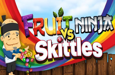 Download Fruit Ninja vs Skittles iPhone free game.