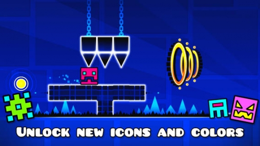 Screenshots of the Geometry dash game for iPhone, iPad or iPod.