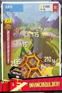 Screenshots of the Giant Boulder of Death game for iPhone, iPad or iPod.