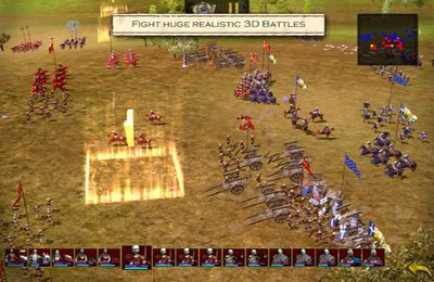 Screenshots of the Great Battles Medieval game for iPhone, iPad or iPod.