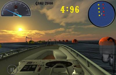 Screenshots of the iBoat racer game for iPhone, iPad or iPod.