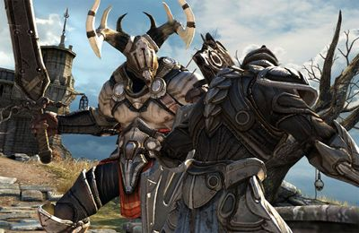Screenshots of the Infinity Blade game for iPhone, iPad or iPod.