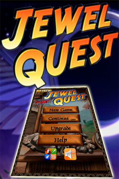 Screenshots of the Jewel Quest! game for iPhone, iPad or iPod.