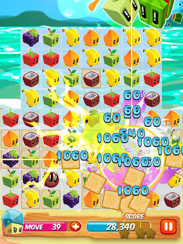 Screenshots of the Juice Cubes game for iPhone, iPad or iPod.