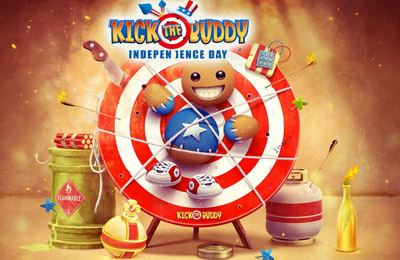 Download Kick the Buddy Independence Day iPhone free game.