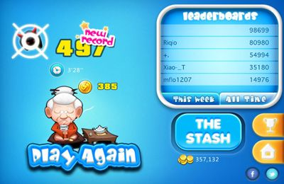 Screenshots of the Kung Pow Granny game for iPhone, iPad or iPod.