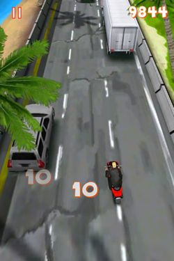 Screenshots of the Lane Splitter game for iPhone, iPad or iPod.