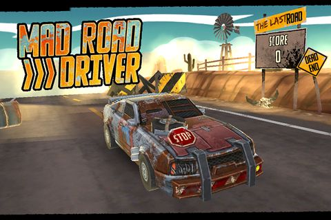 Download Mad road driver iPhone free game.