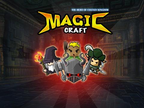 Screenshots of the Magic Craft: The Hero of Fantasy Kingdom game for iPhone, iPad or iPod.