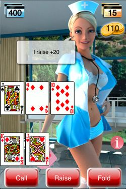 Screenshots of the Manga Strip Poker game for iPhone, iPad or iPod.