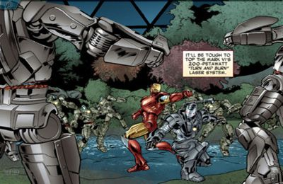 Screenshots of the MARVEL'S THE AVENGERS: IRON MAN – MARK VII game for iPhone, iPad or iPod.