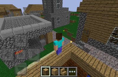 Screenshots of the Minecraft – Pocket Edition game for iPhone, iPad or iPod.