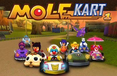 Screenshots of the Mole Kart game for iPhone, iPad or iPod.