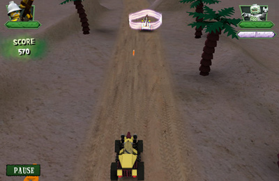 Screenshots of the Monster Fighters Race game for iPhone, iPad or iPod.