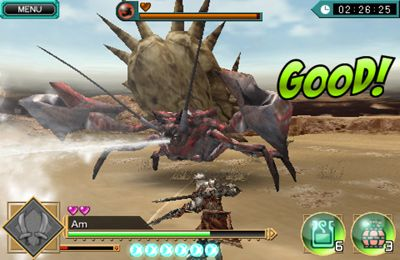 Screenshots of the MONSTER HUNTER Dynamic Hunting game for iPhone, iPad or iPod.