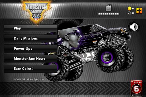 Screenshots of the Monster jam game game for iPhone, iPad or iPod.