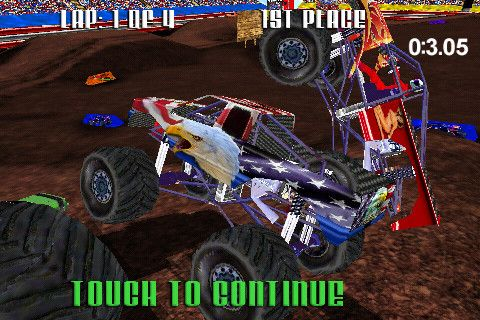 Screenshots of the Monster Truck Racing game for iPhone, iPad or iPod.