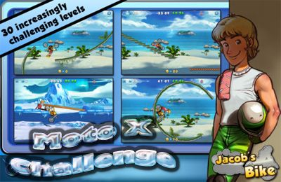 Screenshots of the Moto X Challenge game for iPhone, iPad or iPod.