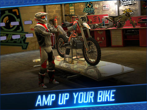 Screenshots of the Motocross Meltdown game for iPhone, iPad or iPod.