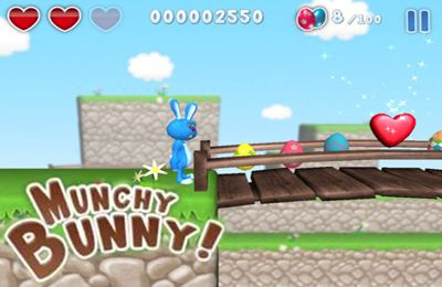 Screenshots of the Munchy Bunny game for iPhone, iPad or iPod.