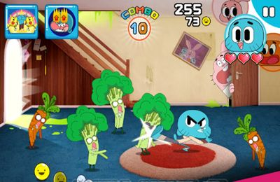 Screenshots of the Mutant Fridge Mayhem – Gumball game for iPhone, iPad or iPod.